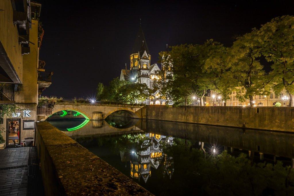 F11 : Le Temple Neuf  et le K - Reflets du dans la Moselle